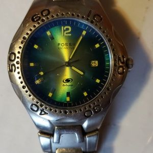 Mens fossil blue watch